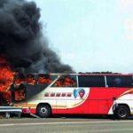 Taiwán: Mueren 26 pasajeros al incendiarse autobús de turistas
