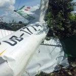 Pucallpa: Avioneta de instrucción se estrella contra campo de cultivo