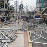 Fiestas Patrias: Cierran vías auxiliares de la avenida Brasil para instalación de tribunas