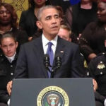 Dallas: Obama rindió homenaje a policías abatidos en tiroteo (VIDEO)