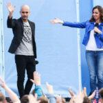 Pep Guardiola fue presentado oficialmente como DT del Manchester City