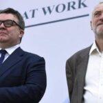 Sindicatos y laboristas británicos sin acuerdo sobre futuro de Corbyn