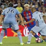 Barcelona con dos goles de Messi se impuso por 3-2 al Sampdoria