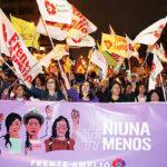 Verónika Mendoza: Marcha debe fortalecer lucha a favor de derechos de la mujer