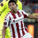Superliga danesa: Edison Flores anota su primer gol con el Aalborg Boldklub