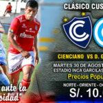 Cienciano y Deportivo Garcilaso en clásico cusqueño
