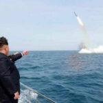 Norcorea lanza misil de ensayo ante maniobras militares de Corea del Sur