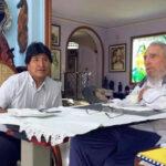 Evo Morales publica en Twitter fotos de su reunión con Fidel Castro