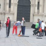 Pedro Pablo Kuczynski: Mira al Gabinete practicando ejercicios en Palacio (VIDEOS)