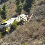 Canarias: Se estrella helicóptero que luchaba contra incendio forestal