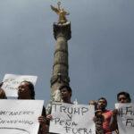 Mexicanos expresan en la calle su rechazo a reunión de Peña Nieto y Trump