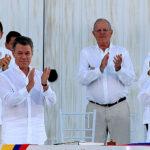 Pedro Pablo Kuczynski participó en firma de acuerdo de paz en Colombia