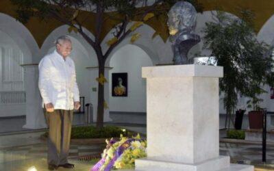 Raul Castro-restos de Gabo