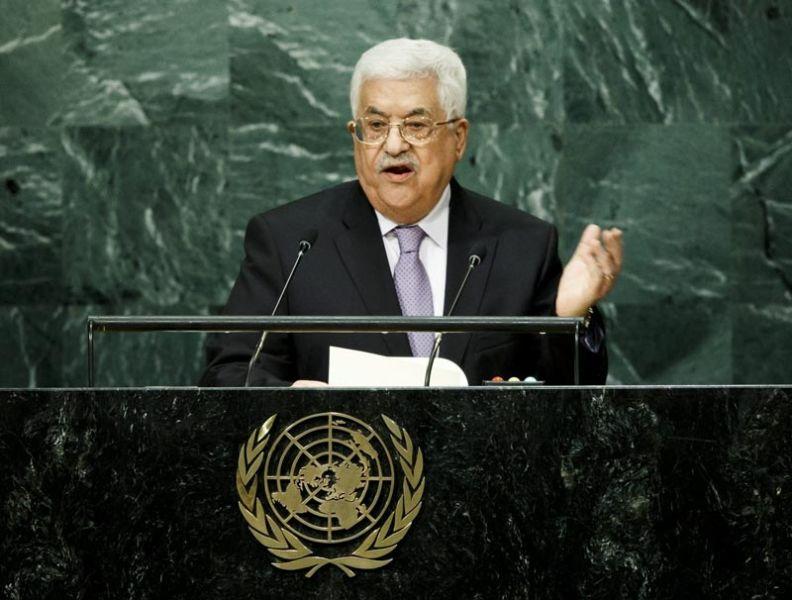 JLX01 NUEVA YORK (ESTADOS UNIDOS), 22/09/2016.- El presidente palestino, Mahmud Abás, pronuncia su discurso con motivo de la 71 sesión de la Asamblea General de la ONU, en la sede de Naciones Unidas en Nueva York, Estados Unidos, hoy, 22 de septiembre de 2016. EFE/JUSTIN LANE