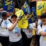 """Colombia: Intención de voto por el """"sí"""" en plebiscito de paz baja al 54%"""