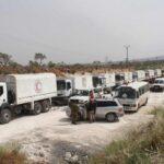 Convoy humanitario accede a una zona asediada del centro de Siria