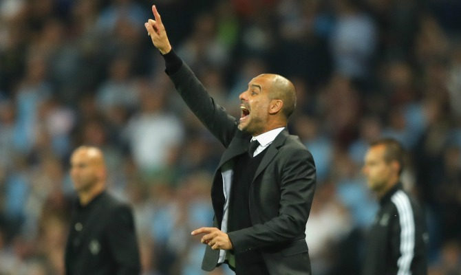 during the UEFA Champions League match between Manchester City FC and VfL Borussia Moenchengladbach at Etihad Stadium on September 14, 2016 in Manchester, England.