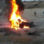 Piura: Cinco muertos al caer auto a hondonada e incendiarse