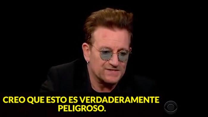 Bono-U2: Donald Trump destruiría Estados Unidos