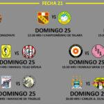 Segunda División: Programación y escenarios de la fecha 21
