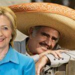 Vicente Fernández da su apoyo a Hillary Clinton con un corrido