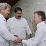 Colombia: Maduro y John Kerry se reúnen sorpresivamente a puertas cerradas