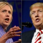 Clinton y Trump llegan a primer debate presidencial empatados en sondeo