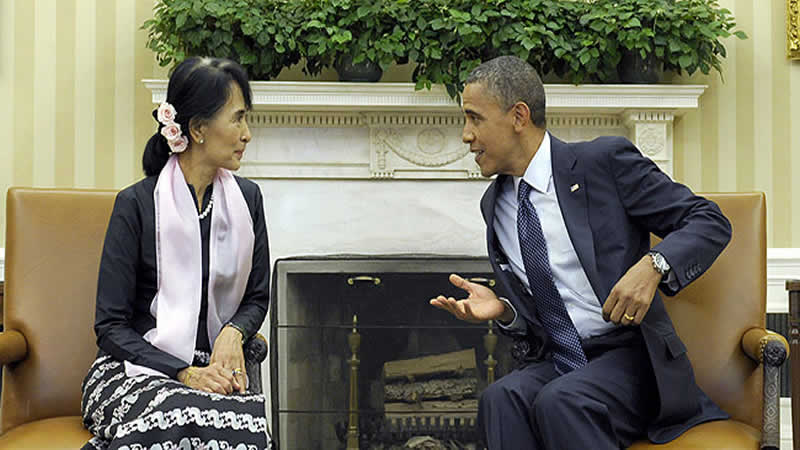 Aung San Suu Kyi-BarackObama