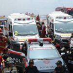 Cuerpos de bomberos fallecidos fueron llevados a la morgue (VIDEO)