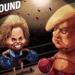 Hillary Clinton y Donald Trump en el último y crucial debate presidencial