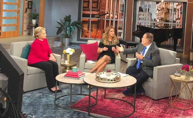 Hillary Clinton visita 'El gordo y la flaca' de Univison