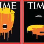 "Time dedica su portada a Donald Trump dibujándolo ""totalmente derretido"""