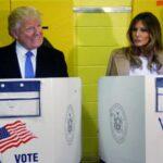 """Trump vota en Manhattan y dice que todo está saliendo """"muy bien"""""""