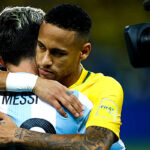 Neymar le gana la partida a Messi (Fotos)