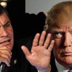 """Correa sobre comentario de Trump: """"Las palabras de un ignorante"""""""
