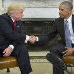 """Obama se muestra """"alentado"""" por su conversación con Trump y le desea éxito"""