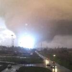 Italia: después delos sismos un tornado, lluvias y nevada (VIDEO)