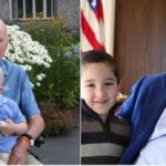 Foto de Bush padre con niño recuperadode cáncer conmueve a EEUU