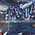 China: Mueren 17 personas en colisión múltiple de 56 vehículos