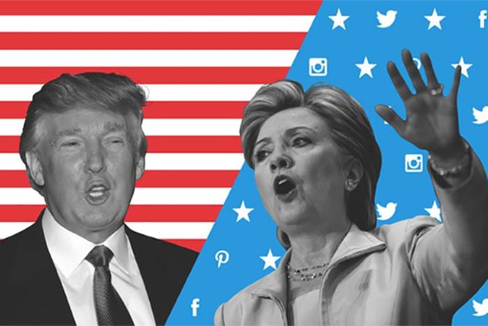 trump-clinton-bandera