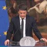 Italia: Renzi presidió Consejo de Ministros tras anunciar su dimisión