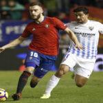Liga Santander: Osasuna y Málaga empatan 1-1 en partido de la 20ª fecha