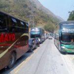 Carretera Central: Restringen tránsito vehicular por lluvias y caída de piedras