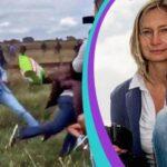 Tres años de libertad condicional a periodista húngara que pateó refugiados