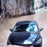 Desborde de río Cañete interrumpe tránsito en carretera Yauyos-Chupaca