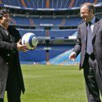Diego Maradona vuelve al Bernabeu para ver duelo Real Madrid-Nápoles
