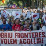 Barcelona acoge la primera gran manifestación europea pro refugiados