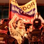 Ecuador: Protestas masivas aumentan frente al Consejo Nacional Electoral (VIDEO)