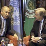 Liga Árabe defiende ante Guterres la solución de crear un Estado palestino