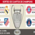 Champions League: Bayern-Real Madrid y Juventus-Barza grandes duelos de cuartos